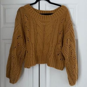 Mustard Seed balloon sleeve sweater